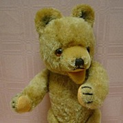 Excelsior Stuffed 12 Inch Vintage Bear, Glass Eyes, Open Mouth