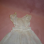 Antique Ecru Pinafore for a 17-18 Inch Doll