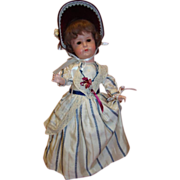 Antique AM Lady Doll #449, Closed Mouth Character, Painted Bisque Head, 5-Pc. Orig. Lady Style Body
