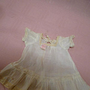 Antique Tagged Original Amberg Vanta Baby Dress for 11 Inch Baby