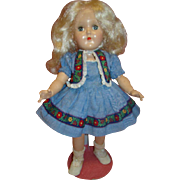 Ideal P-90 Toni Doll, Original Platinum Blond, Cir 1940's