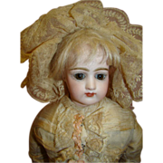 Original 19 In. Portrait Face Jumeau Poupee, So Beautiful!
