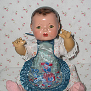 Effanbee Dy-Dee Doll APRON - Bib -- Rare Vintage -- MARY Had a Little LAMB
