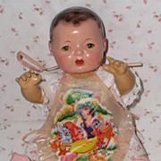 Effanbee Dy-Dee Doll APRON - Bib -- Rare Vintage -- PINK Snow White & Dwarfs
