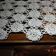 Vintage Crochet Lace Doily Runner