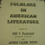 1958 Folklore In American Literature Row, Peterson and Co. Witchcraft Superstition Negro Tales etc.