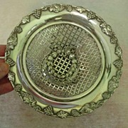 L.B.S. Co. Silver Plate Open Weave Grapevine Basket