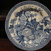 Staffordshire Transferware Plate C.1820 Rogers Wild Floral