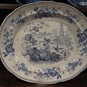 Staffordshire Transferware Huge Platter Enoch Wood & Sons