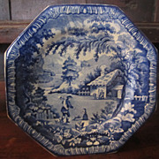 Staffordshire Transferware Plate: Brameld, 'Returning Woodman
