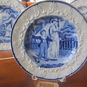 Staffordshire Transferware Childs Plate Rogers c. 1825