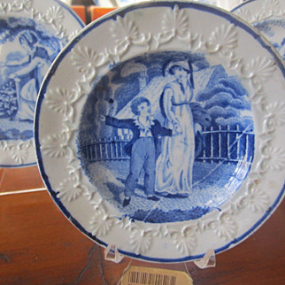 SALE Staffordshire Transferware Childs Plate Rogers c. 1825