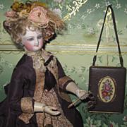 Sale~GORGEOUS Fancy Vintage Petit Point Leather Compact/Purse!