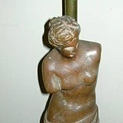 Venus De Milo Aphrodite Of Melos Old  Wood Statue Lamp