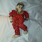 Effenbee Virginia Austin Clown Marionette Old Composition Doll Toy