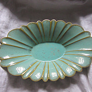 Fulper Pottery Centerpiece Bowl Signed Lustrous Green Glaze