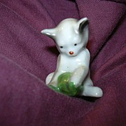 Miniature Cat Kitten Figurine