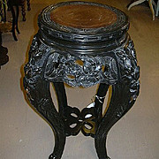 Antique Oriental Table Stand Carved Furniture