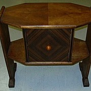 Art Deco Side Table With Humidor Smoking Stand Fine furniture