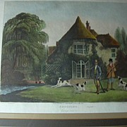 Thomas Sutherland Colored Engraving Shooting Series Going Out R Ackermann's Framed Hunting Art