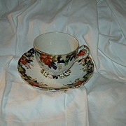 John Maddock & Sons Royal Vitreous England Cup & Saucer Majestic Pattern