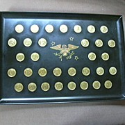 Couroc Bar Dining Tray Inlaid Coins US Presidents