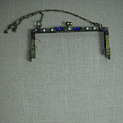 Old Jeweled Beaded Bag Frame