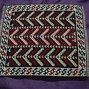 Miniature Persian Bokhara Rug Wool Needlepoint  Needlework Carpet