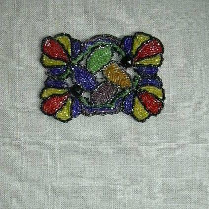 Old Beadwork Beaded Dress Trim