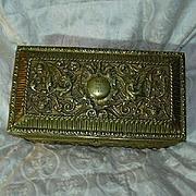 Heavy Decorative Brass Jewelry Casket