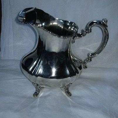 Poole Lancaster Rose Silver On Copper Water Pitcher