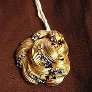 Boucher Rare Brooch Clip Signed Designer Costume Jewelry