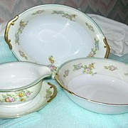 Old Japan Floral China Gravy Oval Vegetable Round Vegetable Fine Dining Ceramic China Service