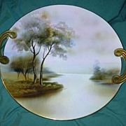 Noritake Hand Painted Cake Plate Beautiful Porcelain China Art