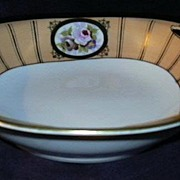 Hand Painted Bowl Noritake China Peony & Violet Flowers