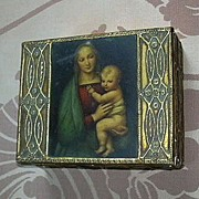 Italian Florentine Box Madonna Virgin Mary Infant Jesus Art