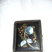 Antique Daguerreotype Case Papier Mache & Mother Of Pearl