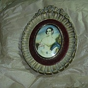 Cameo Creation Old Framed Print Lady