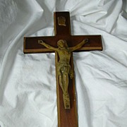 Wall Crucifix Wood & Plaster Personal Catholic Devotion