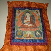Old Tibetan Buddhist Thangka Buddha Art