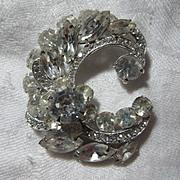 Eisenberg Ice Rhinestone Brooch Pin