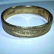 Old Coro Gold Filled Bracelet Ornate Design