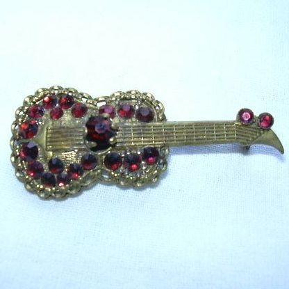 Old Red Guitar Pin