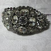 Vendome Wide Fancy Rhinestone Bracelet