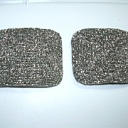 Antique French Steel Beads Shoe Buckles