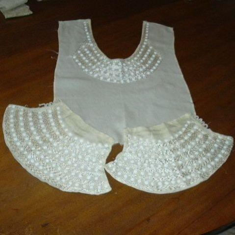 Old Dress Bodice & Cuffs With Beads