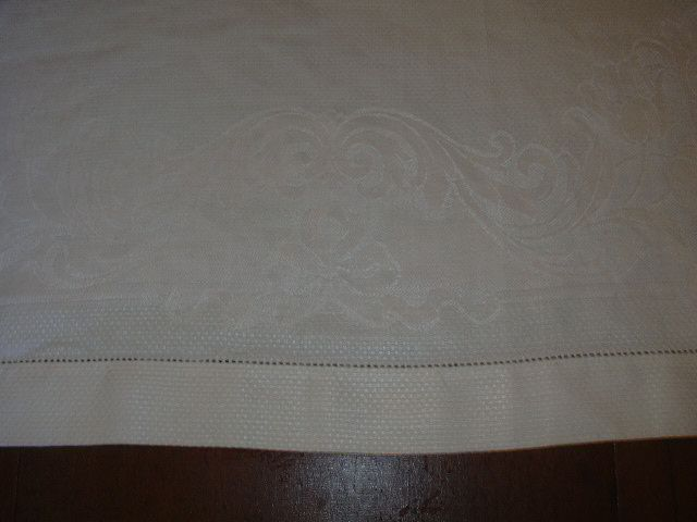 Old Huck & Damask Irish Linen Towel
