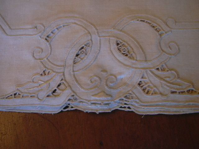 Set 8 Ecru Italian Linen Placemat & Napkin Set Never Used