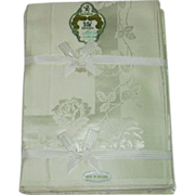 Irish Damask Tablecloth Napkin Set Still In Box