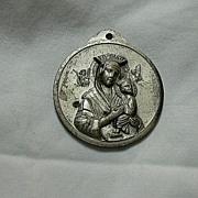 Huge Our lady Perpetual Help & Pope John XXIII Medal